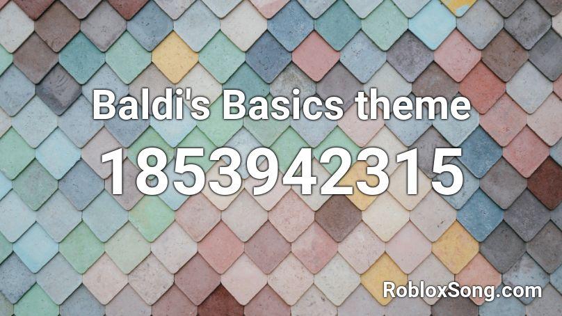 baldi's basics roblox id