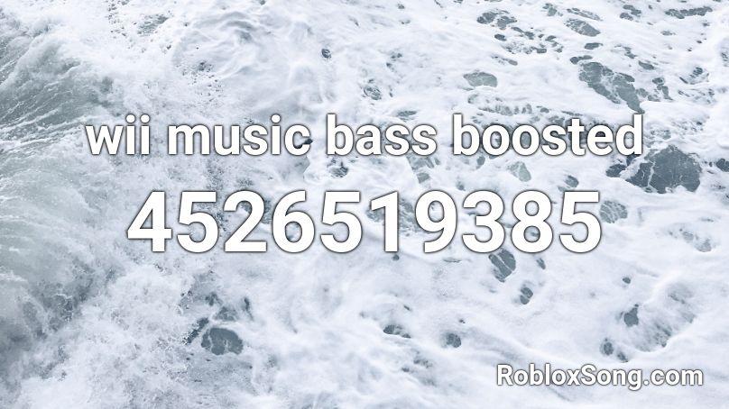 wii music id roblox