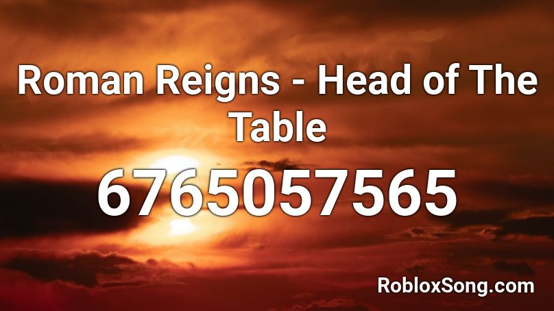 Roman Reigns - Head of The Table Roblox ID