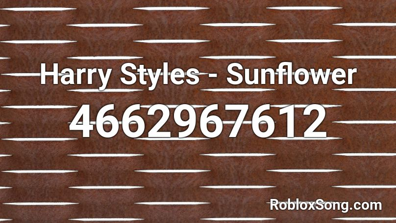 roblox music codes sunflower